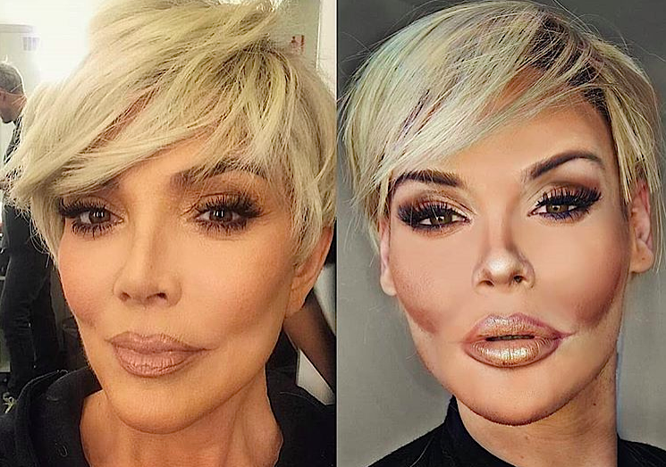 A makeup artist turned himself into Kim Kardashian and Kris Jenner, and Kim loves it
