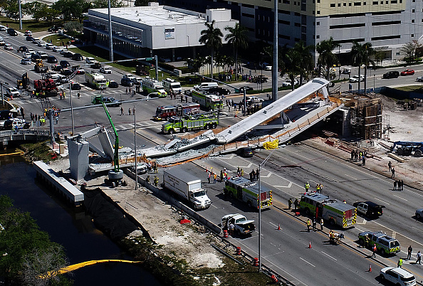 The photos from the pedestrian bridge collapse in Miami are terrifying