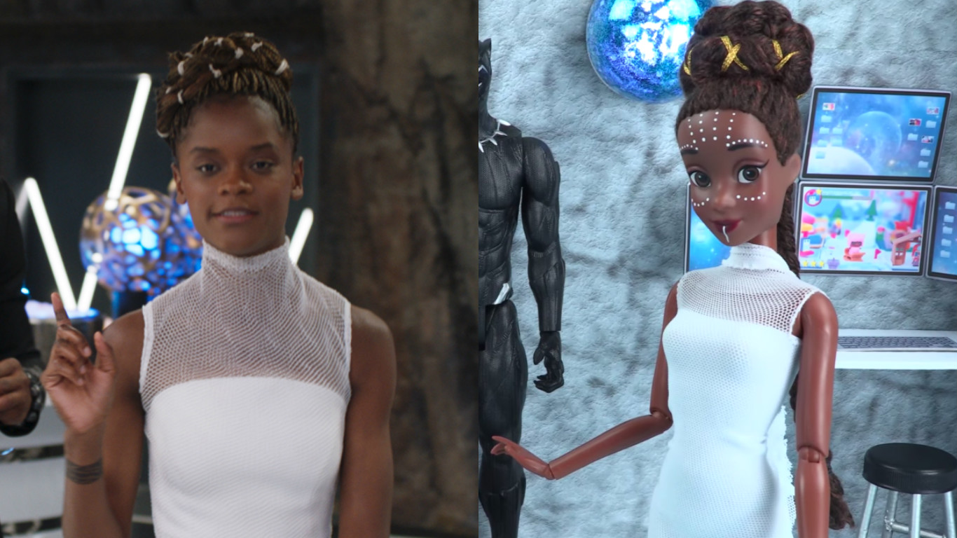 A mom transformed a Barbie into an amazing Shuri doll, and #goals