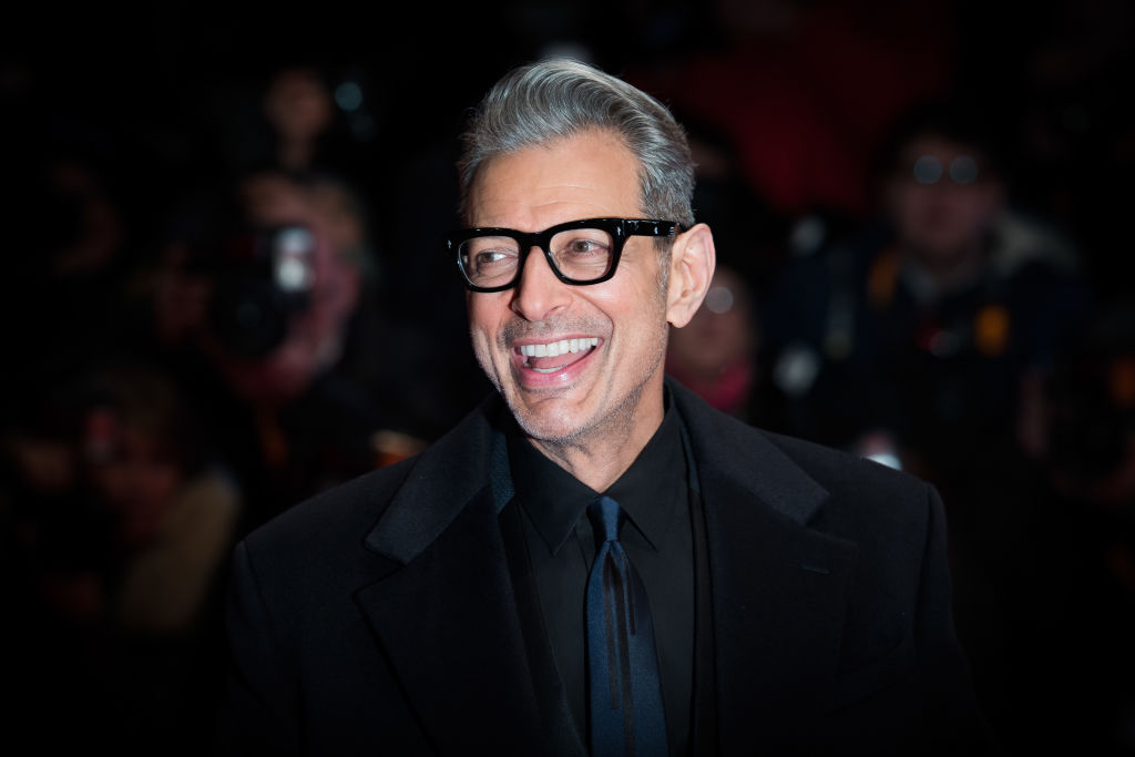 "Jeff Goldblum met his shirtless ""Jurassic Park"" doll and immediately made it weird, because of course he did"