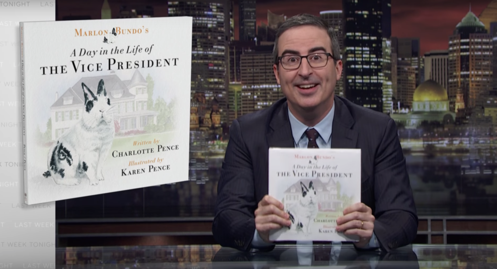 John Oliver is releasing a children's book about a bunny for the sole purpose of trolling Mike Pence