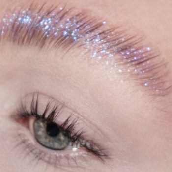 This makeup artist's viral glitter brows look like an IRL KiraKira filter, and people are crazy about it