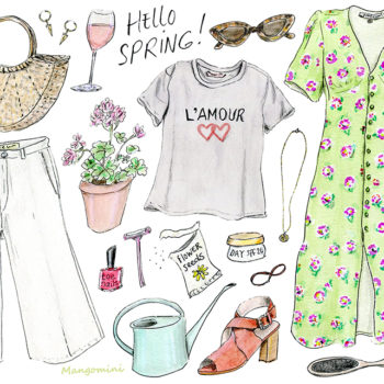 Your wardrobe meets spring, illustrated