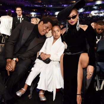 Blue Ivy looked like a golden firework in matching outfits with Beyoncé and Tina Knowles at the Wearable Art Gala