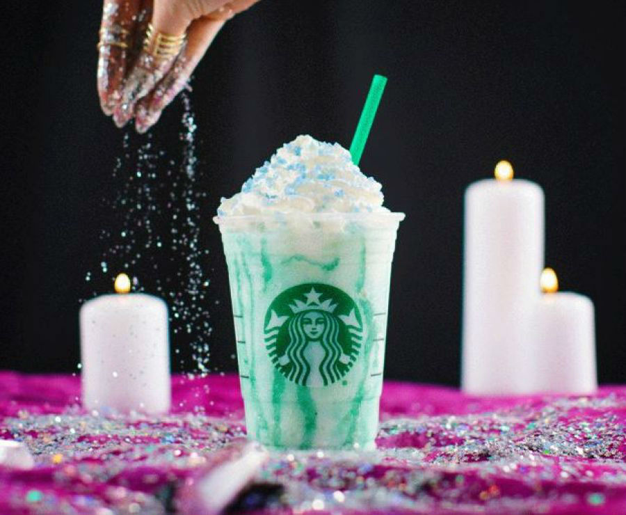 The Starbucks Crystal Ball Frapp comes in three different colors, and they each have a different, magical meaning