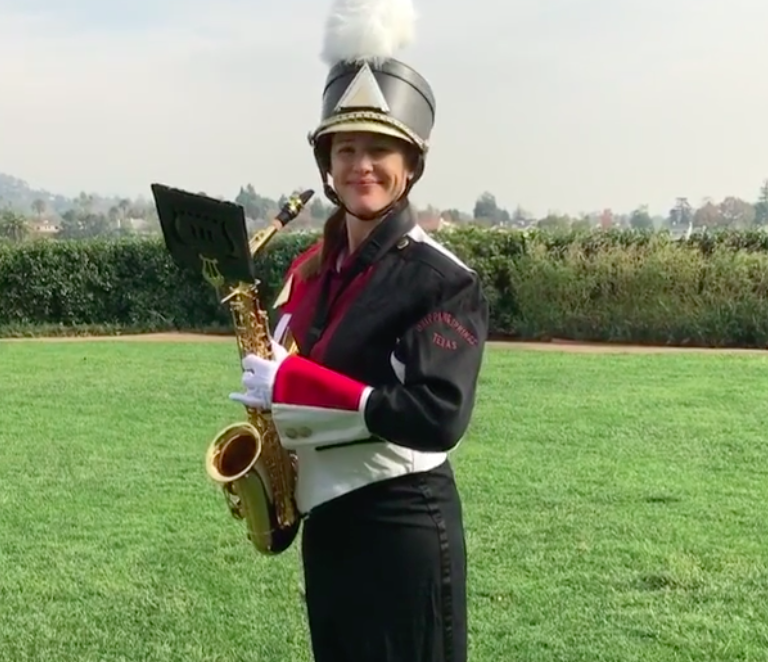 "Jennifer Garner playing ""Happy Birthday"" on a saxophone is the blessing your timeline needed today"