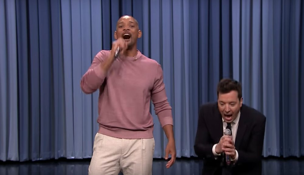 """Will Smith performed the """"Fresh Prince of Bel Air"""" theme song on Jimmy Fallon, and the crowd lost its mind"""