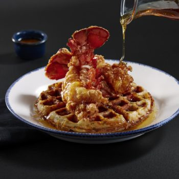Red Lobster is rolling out a lobster and *cheddar bay biscuits* waffle meal, and we're hungry just thinking about it