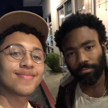 This chance encounter between Donald Glover and a young comedian is giving Twitter all the feels
