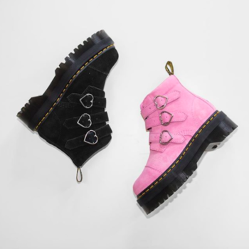 Are the goth-glam Dr. Martens x Lazy Oaf boots sold out? Here's how to get the heart-adorned shoes
