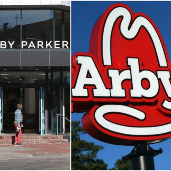 Arby's and Warby Parker teamed up for an unexpected (and kind of cute!) April Fools' merch collection