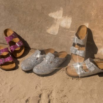 Glitter Birkenstocks are here, and we hope this isn't an April Fools' Day joke