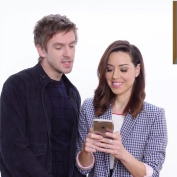 Aubrey Plaza and Dan Stevens hijacked a stranger's Tinder profile, and prepare to cringe