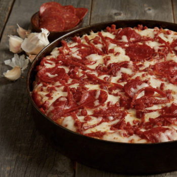 You can get a free deep-dish pizza delivered to your house this week