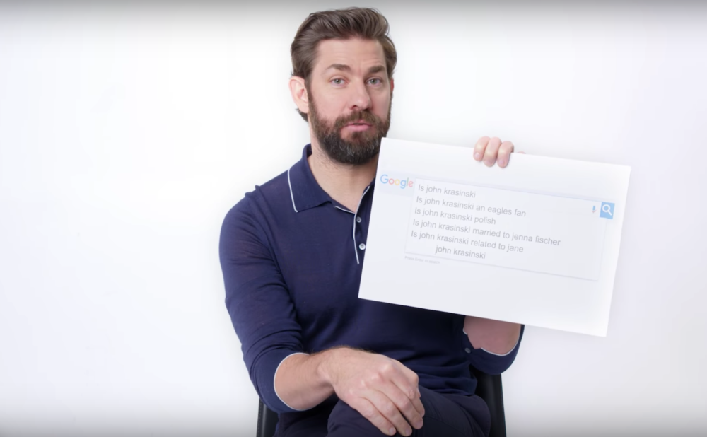 John Krasinski answered all your burning <em>Office</em> questions in his Google autocomplete interview, and this isn't a Jim Halpert prank