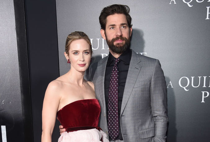 Emily Blunt says asking John Krasinski if she could be in <em>A Quiet Place</em> was like proposing, and #RelationshipGoals