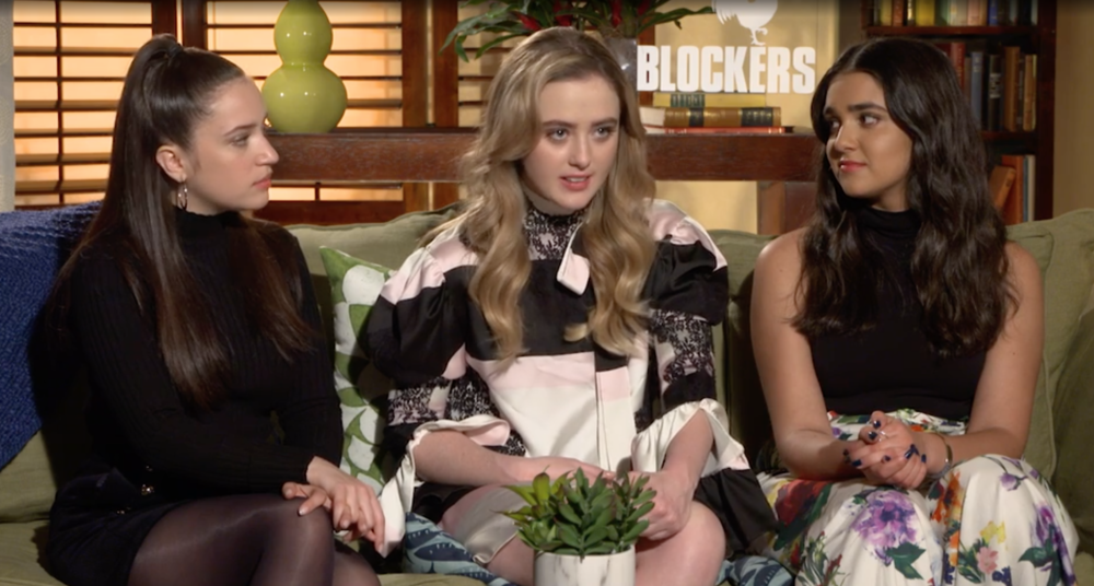 "The young women of ""Blockers"" say the film includes the types of conversations they have with friends"