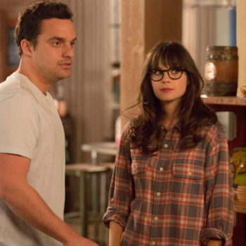 Jake Johnson shared a picture from Season 7 of <em>New Girl</em>, and we have questions about Jess' finger splint and nose ring