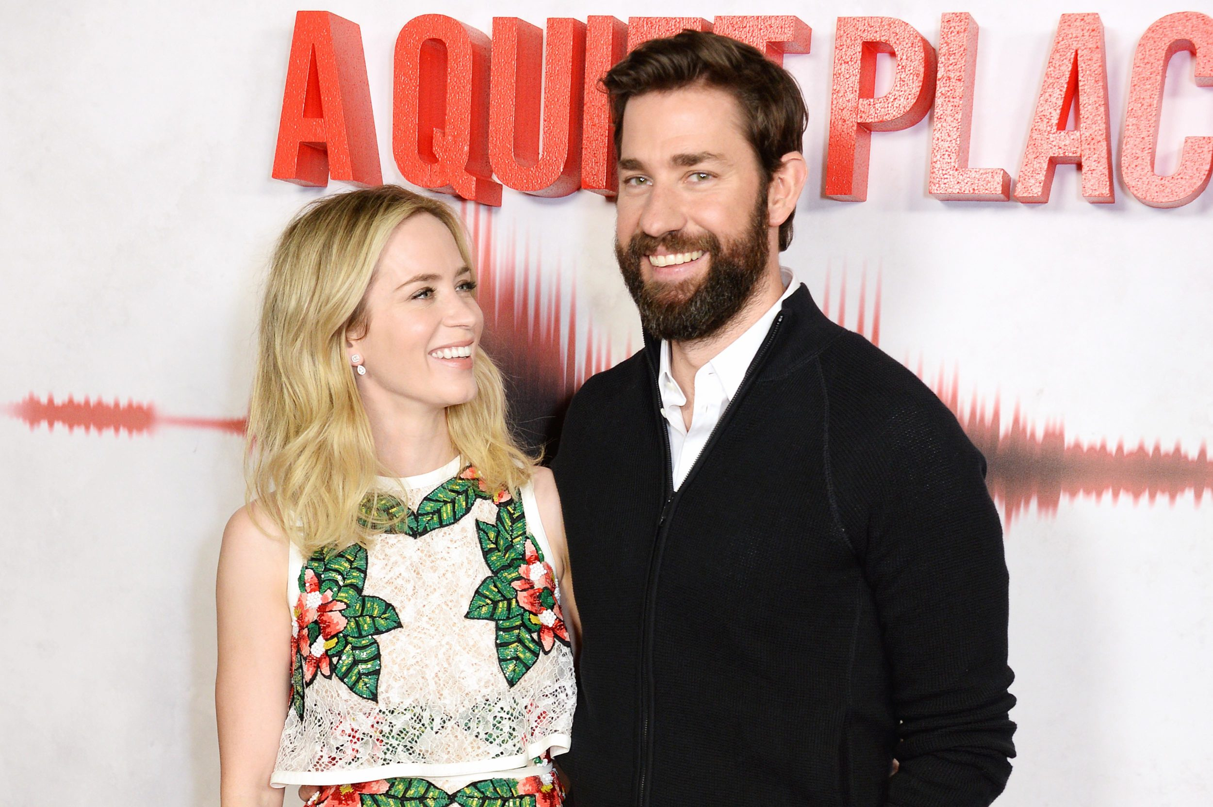 John Krasinski adoringly teased wife Emily Blunt about liking her former costar, and we've never loved them more