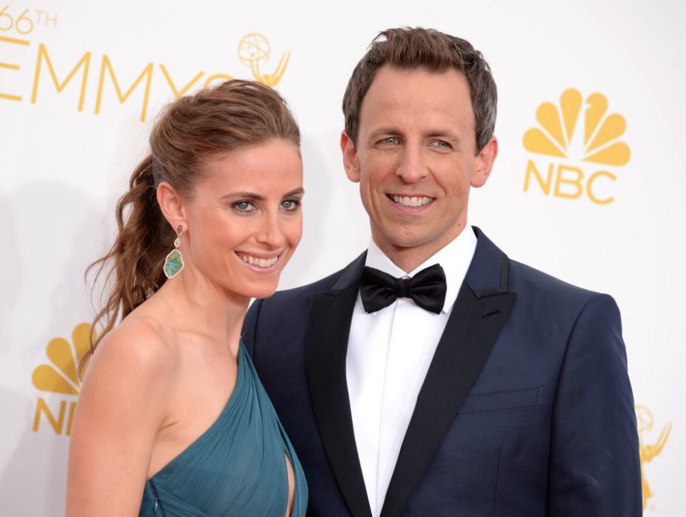 Seth Meyers' wife gave birth in the lobby of their apartment building