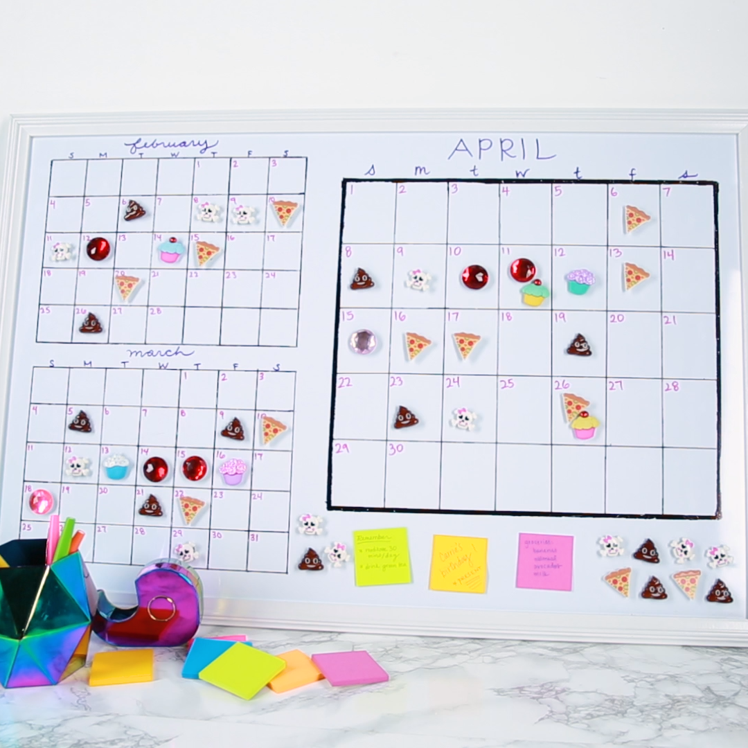 This DIY period tracker calendar will make staying on top of your cycle super easy