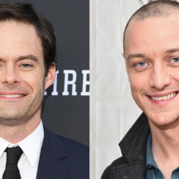 Bill Hader and James McAvoy might join the <em>It</em> sequel, and we absolutely *need* to see them fight Pennywise together