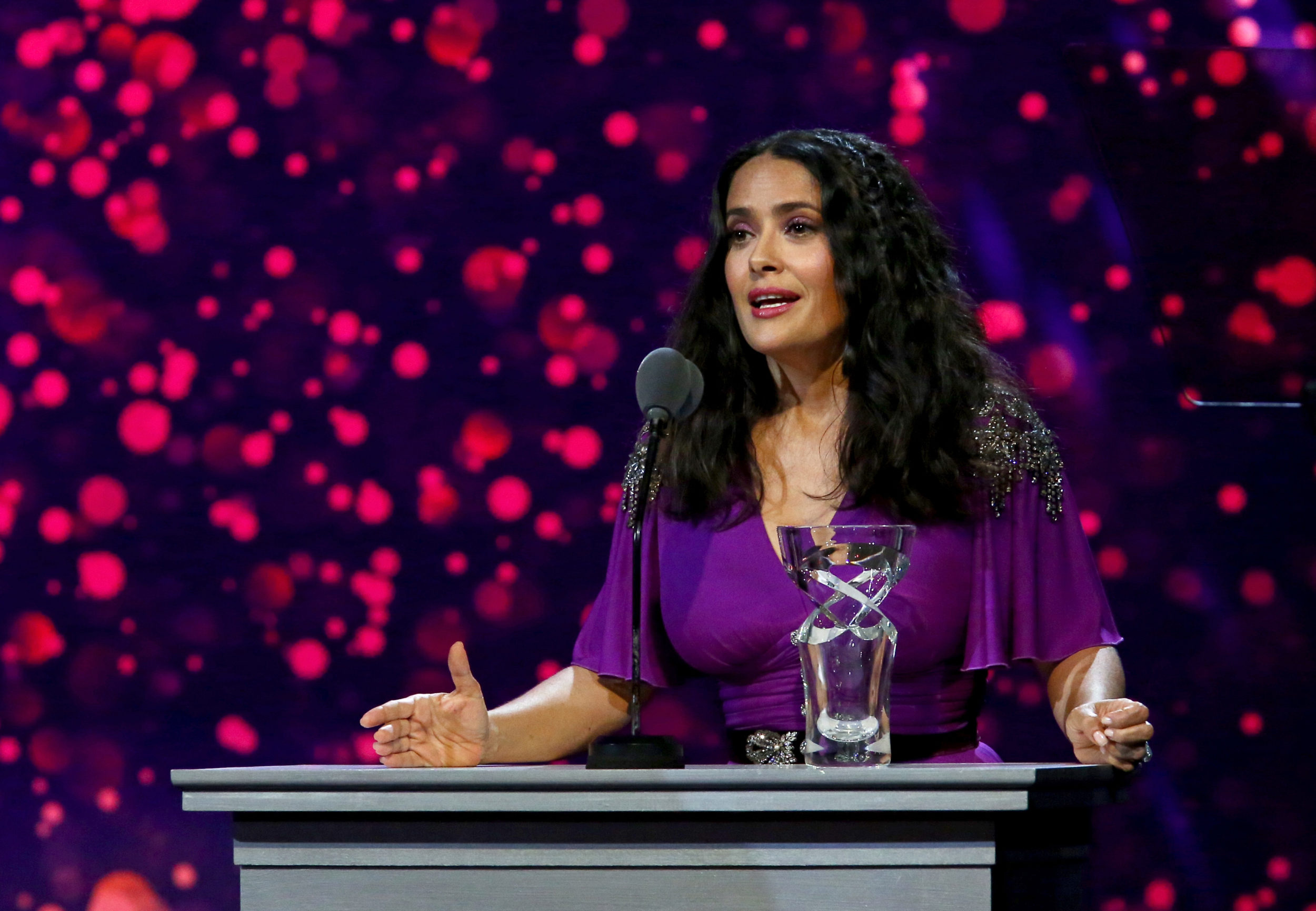 Salma Hayek opened up about her heartbreaking trip to Sierra Leone while accepting a UNICEF leadership award