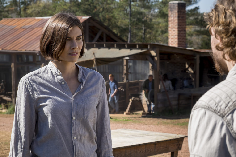 "Good news and bad news — Maggie might stick around on ""Walking Dead,"" but as a villain"