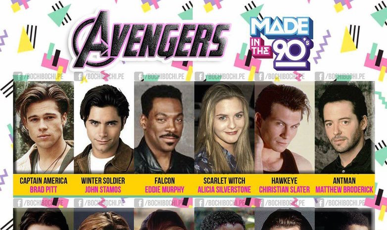 "Someone recast ""The Avengers"" with '90s stars, and Brendan Fraser as Star-Lord is almost TOO perfect"