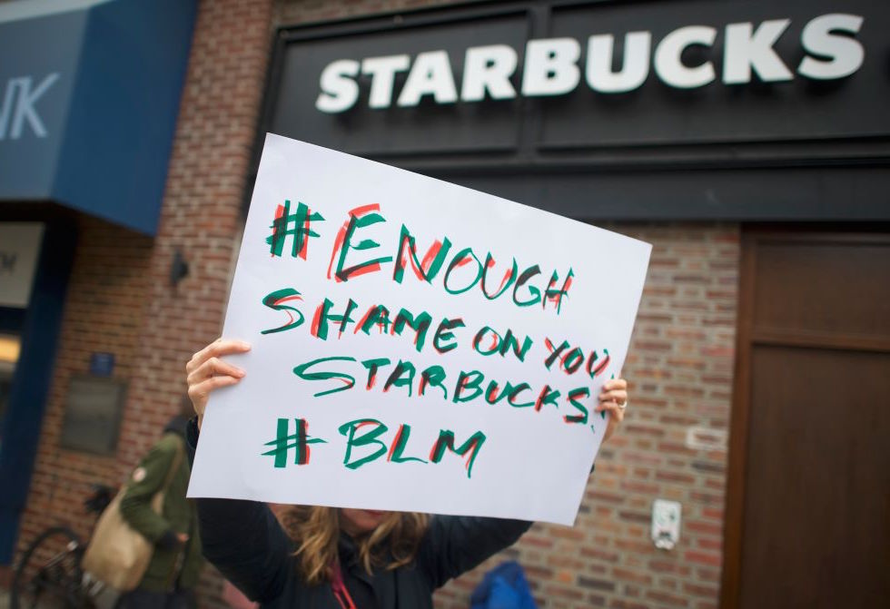 Another viral video appears to show a Starbucks manager denying bathroom access to a black man