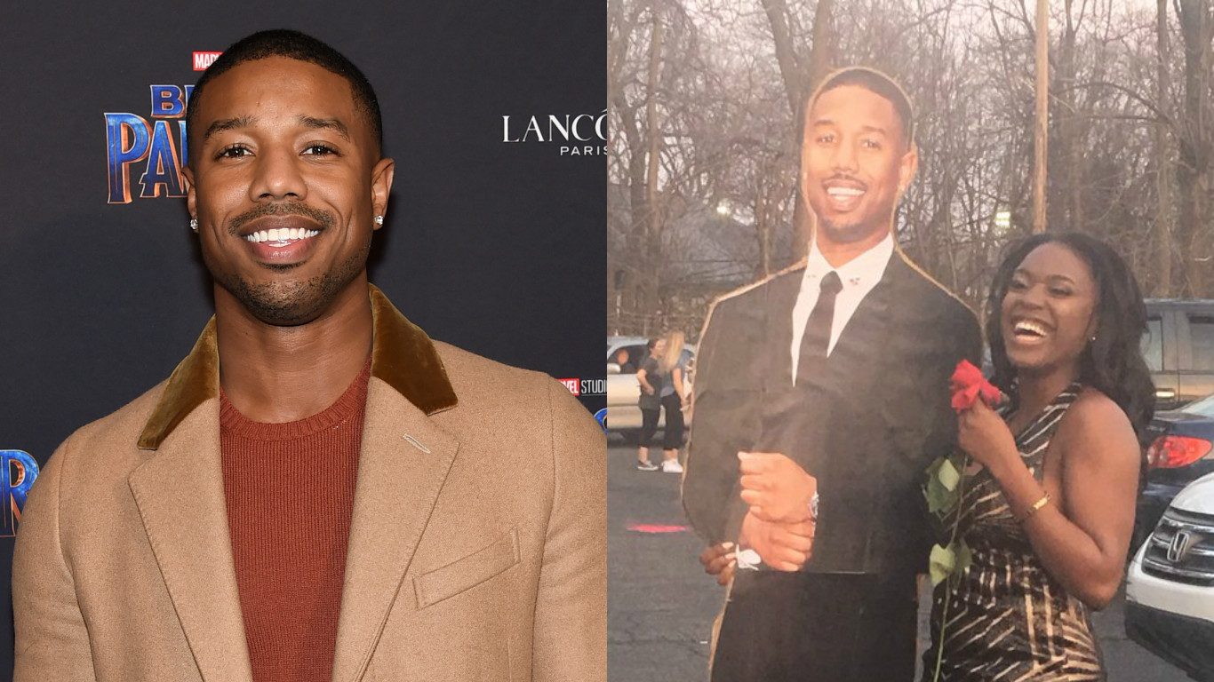 A girl took a cardboard cutout of Michael B. Jordan to prom, putting all your IRL dates to shame
