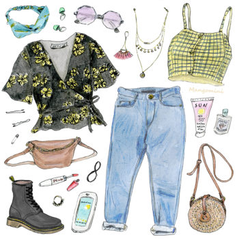 Your summer music festival style, illustrated