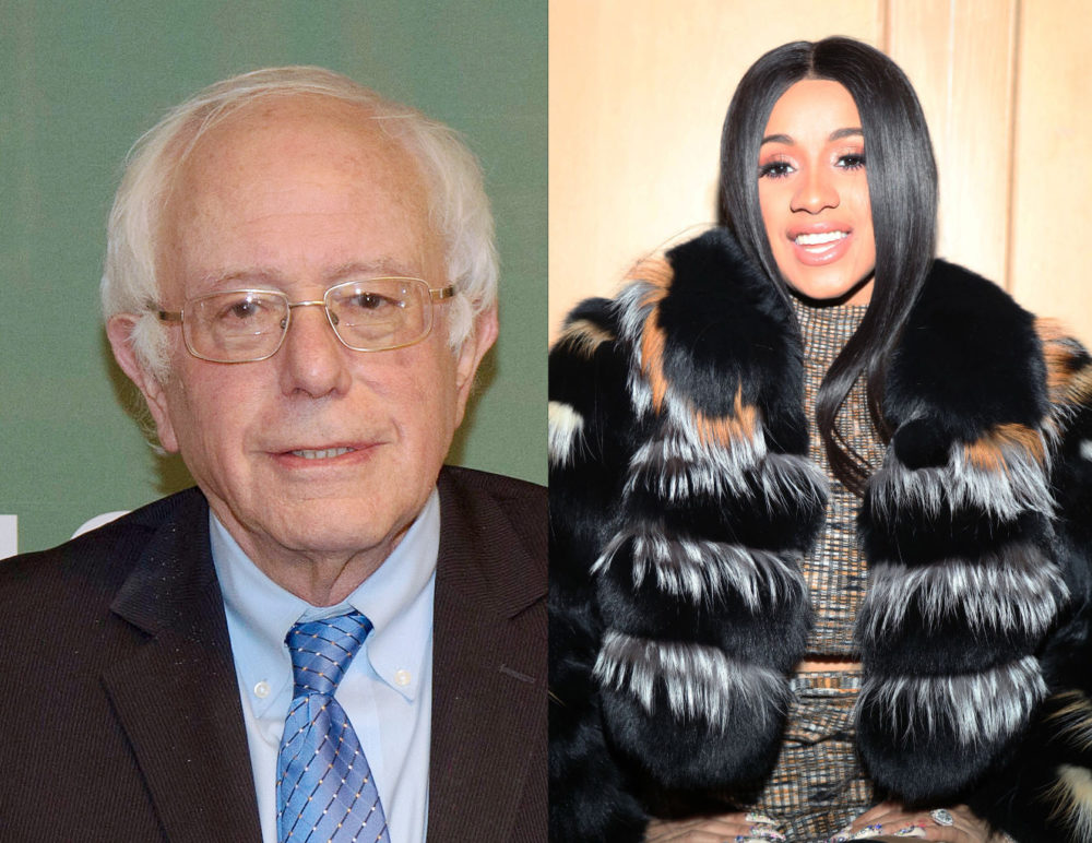 "Bernie Sanders just said ""Cardi B is right"" about this important political issue"
