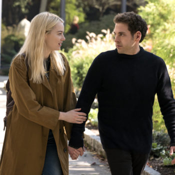 Emma Stone and Jonah Hill are *definitely* tripping out in the first pics for Netflix's <em>Maniac</em>