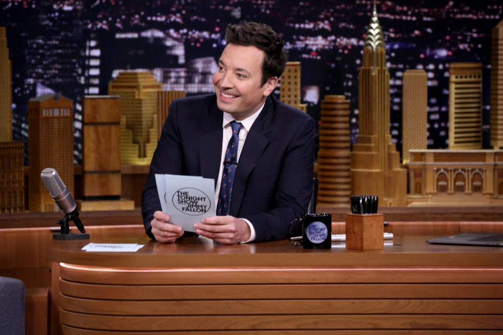 Jimmy Fallon choked up last night while paying special tribute to Tina Fey