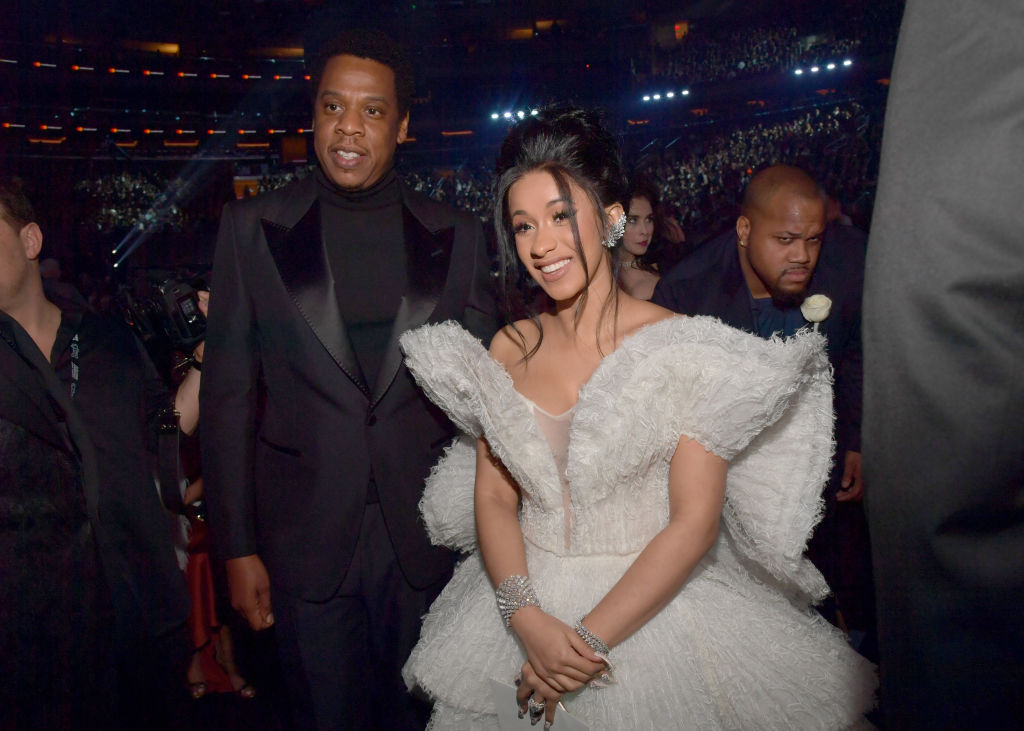 """Jay-Z """"blessed"""" Cardi B's baby bump at Coachella, and thankfully for us mere mortals, there's video of it"""
