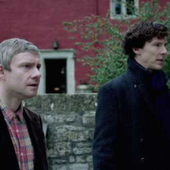 """Benedict Cumberbatch calls Martin Freeman's comments about <em>Sherlock</em> """"pathetic,"""" and things are getting heated at 221B"""