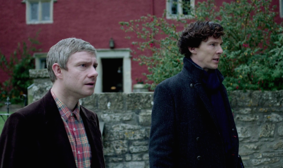 "Benedict Cumberbatch calls Martin Freeman's comments about <em>Sherlock</em> ""pathetic,"" and things are getting heated at 221B"