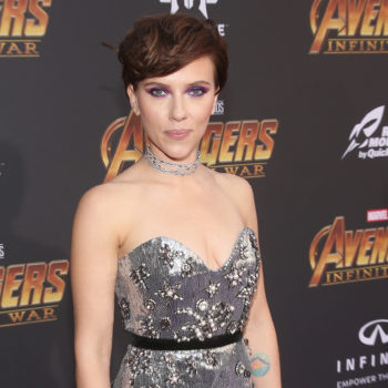 We got a rare glimpse of Scarlett Johansson's epic back tattoo at the <em>Infinity War</em> premiere