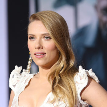 Scarlett Johansson rocked a brunette pixie cut on the <em>Infinity War</em> red carpet, and she was born for it