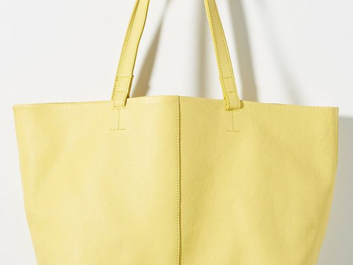 anthropologie yellow tote bag, mothers day gifts