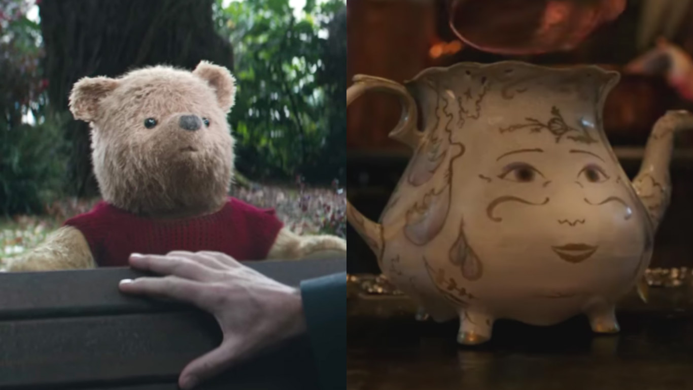 The first look at live-action Winnie the Pooh isn't as terrifying as live-action Mrs. Potts, but it's close
