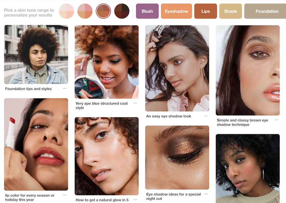 Pinterest's new feature makes it easier for people of color to find beauty inspo