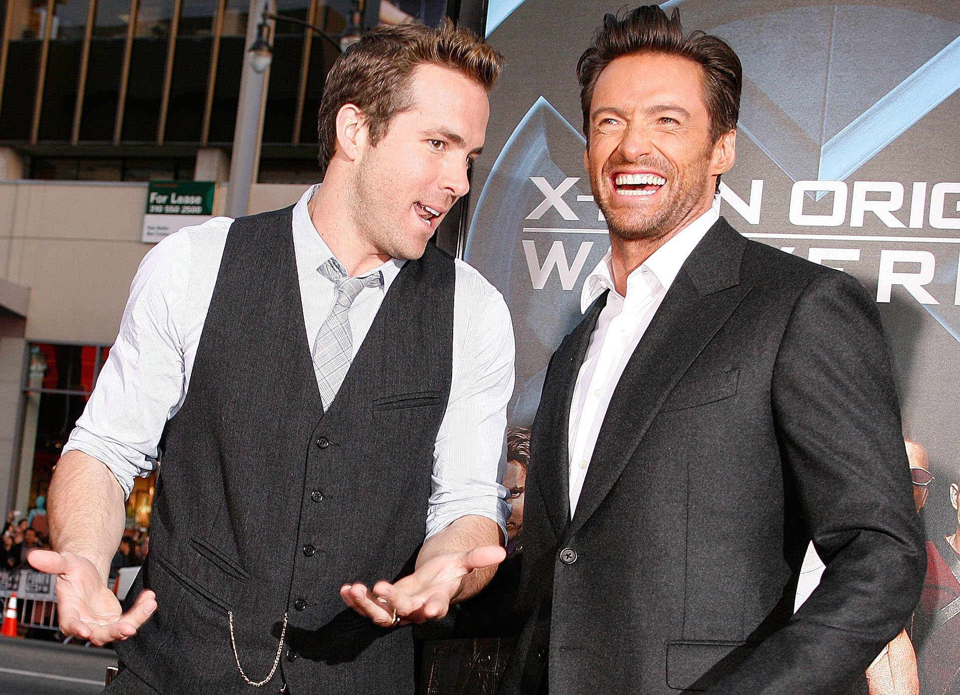 Ryan Reynolds photobombed Hugh Jackman's birthday video so hard