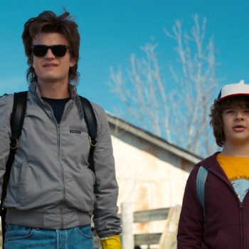 <em>Stranger Things</em> is officially back in production, and this BTS video shows us Steve's glorious Season 3 hair