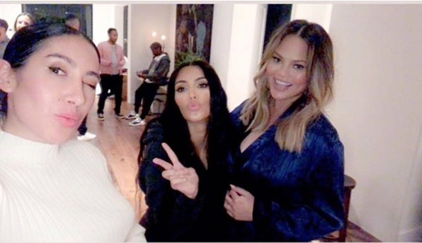 Chrissy Teigen posted pics from her surprise baby shower, and the guest list was iconic