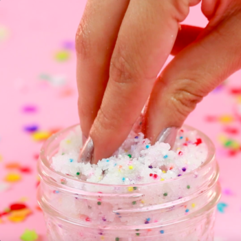 DIY Birthday Cake Body Scrub