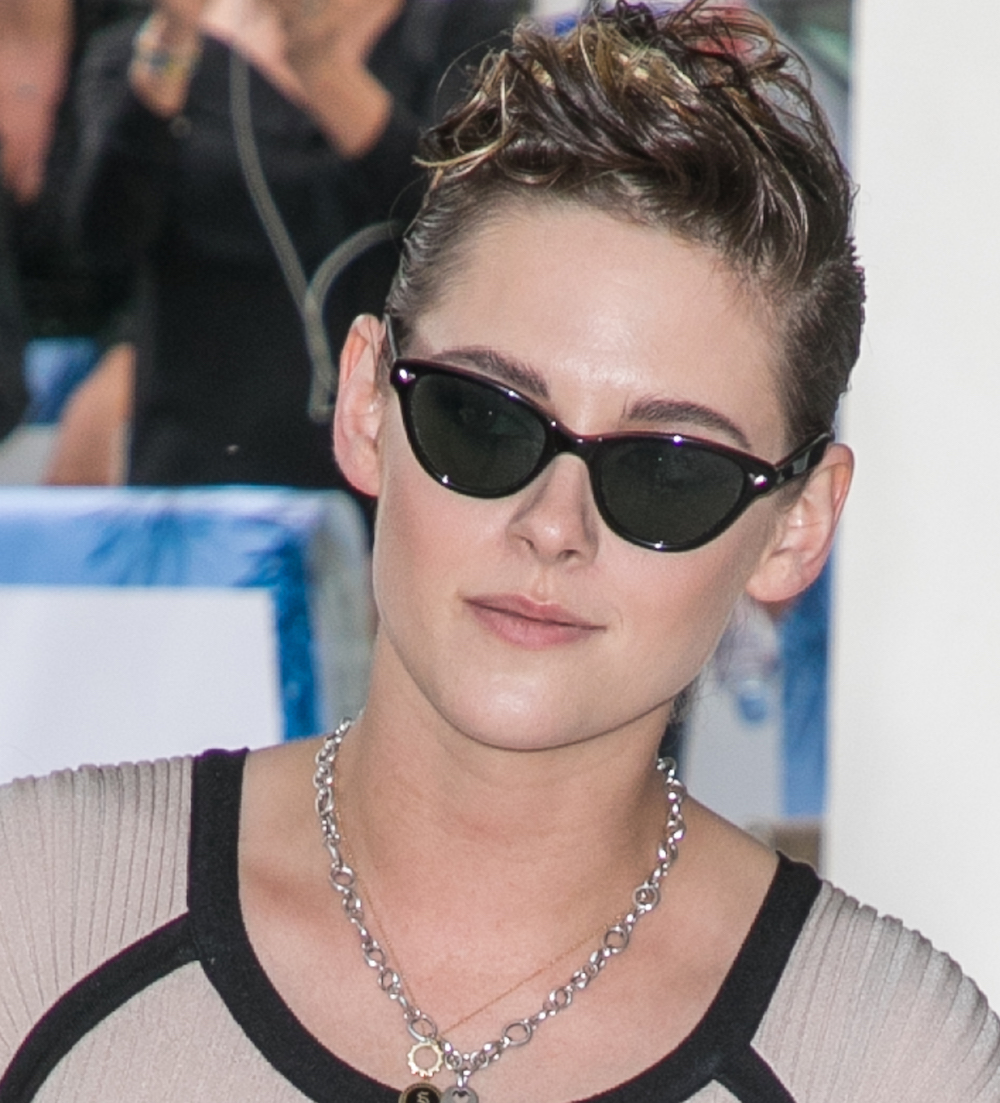 Kristen Stewart's garter belt skirt is giving us boudoir badass vibes