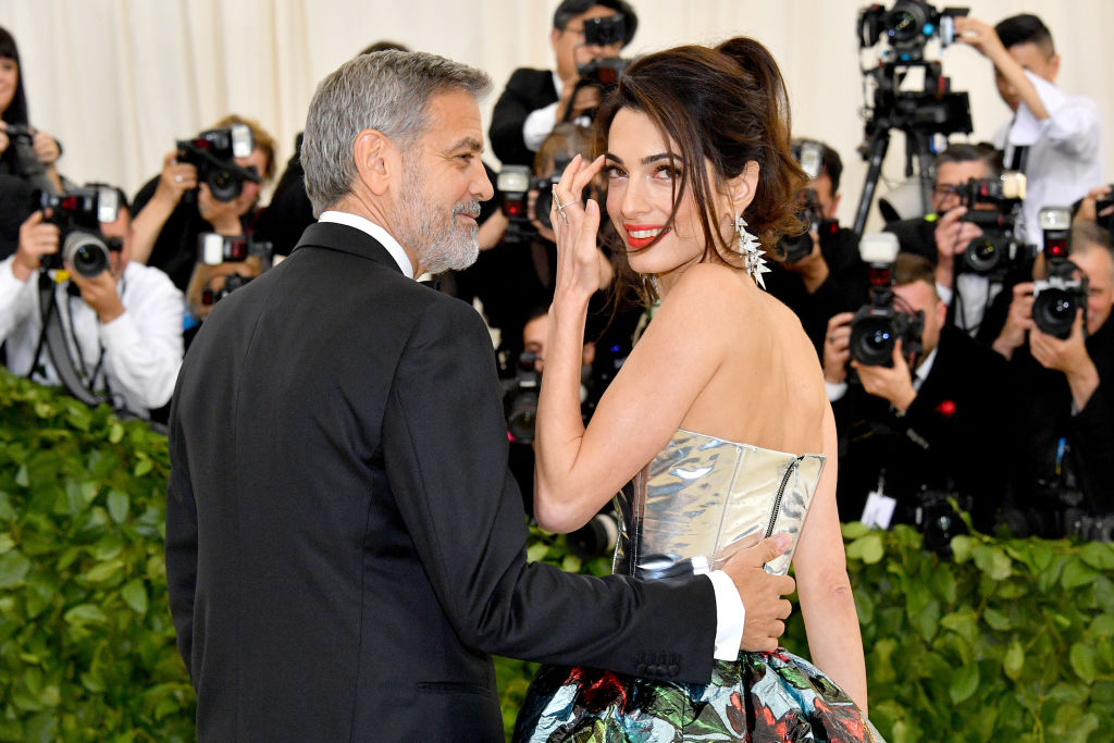Amal Clooney managed to make the polarizing dress-over-pants look SO glam at the 2018 Met Gala