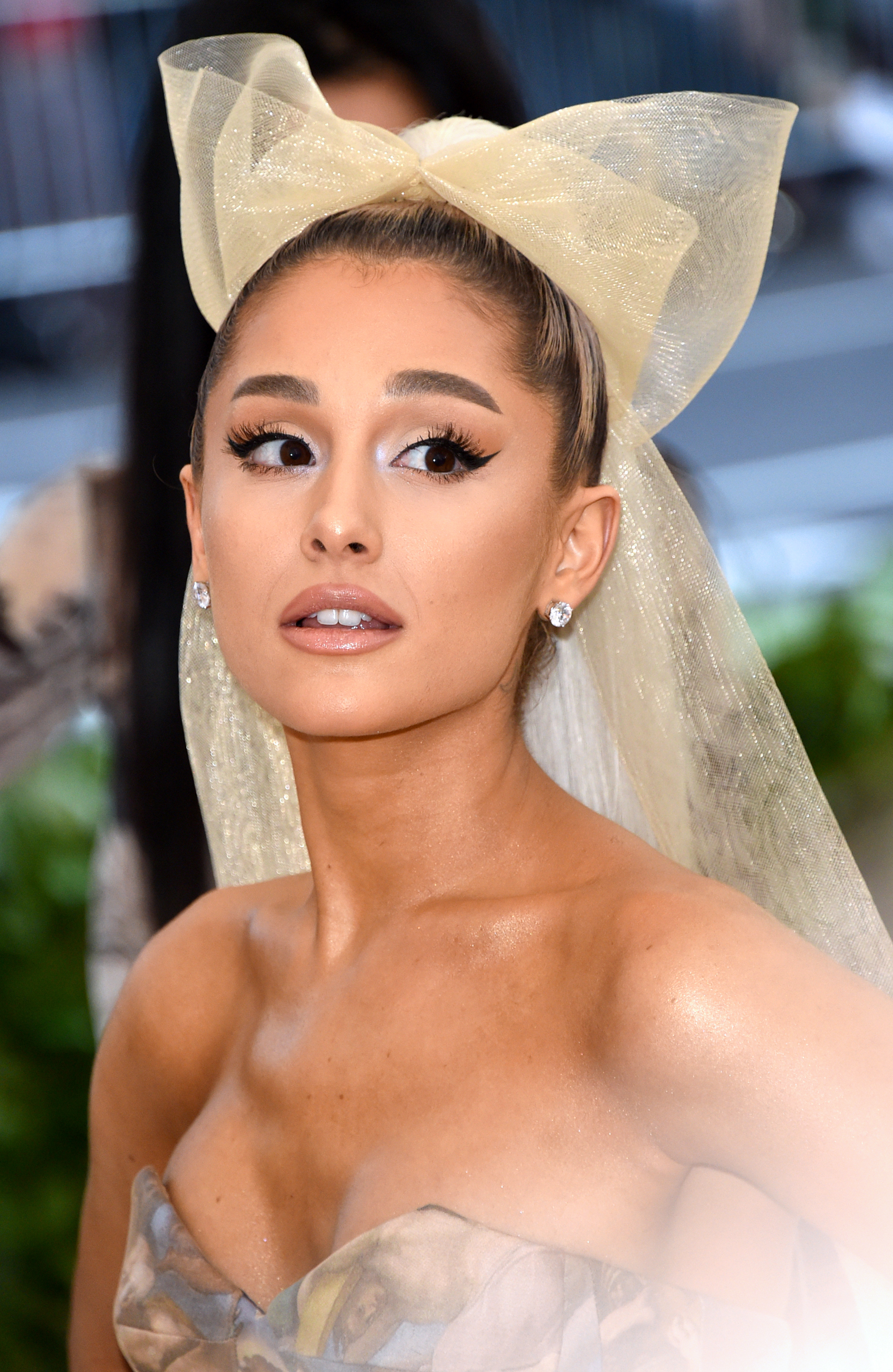 Ariana Grande ditched her signature ponytail and wore the Sistine Chapel ceiling on her Met Gala gown